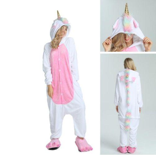 Pijama Kigurumi de Unicórnio Pink Rainbow