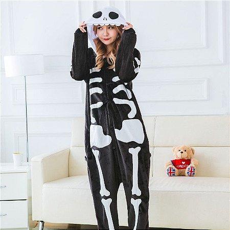 Pijama Kigurumi de Caveira