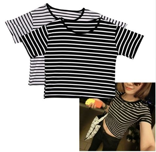 28f27548f75 Camiseta Cropped BLACK   WHITE - MobWay Store