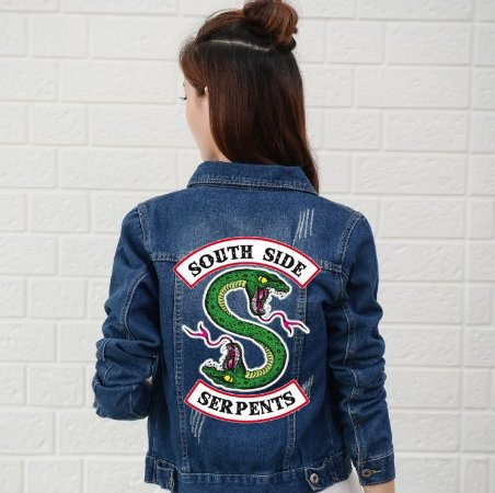 Jaqueta Jeans RIVERDALE South Side Serpents - Várias Cores