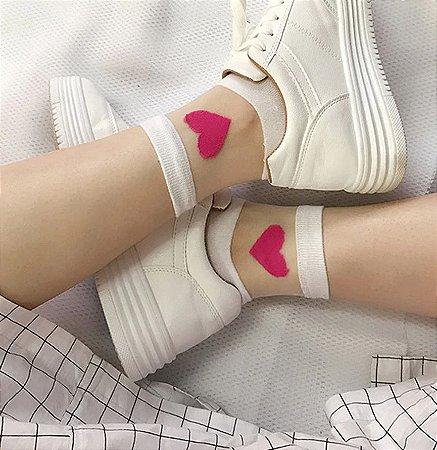 Meia Socket Transparente REDHEART - Várias Cores