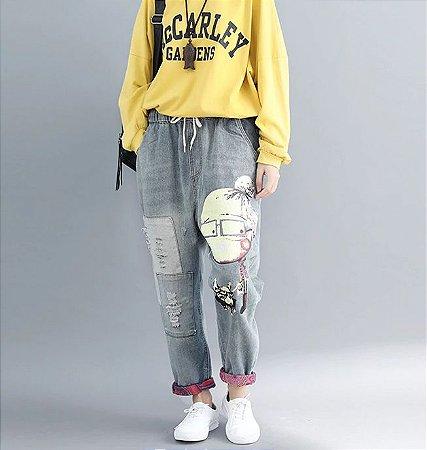 Calça Harém Jeans FUNK GRANNY