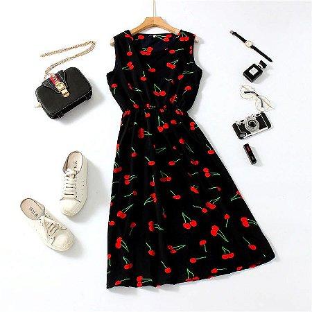 Vestido SPRINGDAY Luas & Cerejas - Duas Estampas