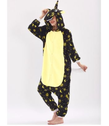 Pijama Kigurumi de UNICÓRNIO NA NOITE
