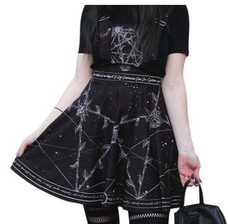 Vestido de Alça Gótico BLACK ROSES