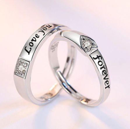 Alianças LOVE YOU FOREVER (Par) - Vários Modelos