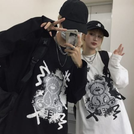 Camiseta Manga Longa URSO PUNK - Duas Cores