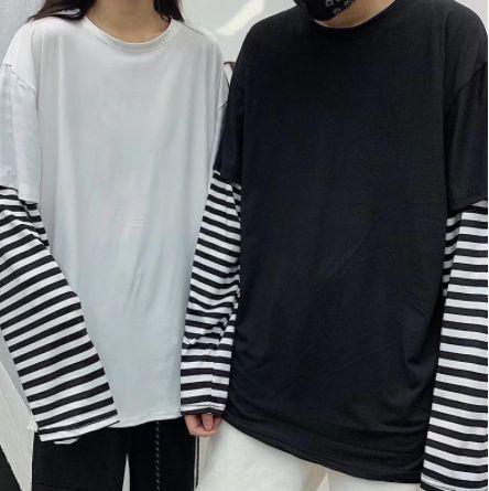 Camiseta Manga Longa Dupla MANGA LISTRADA