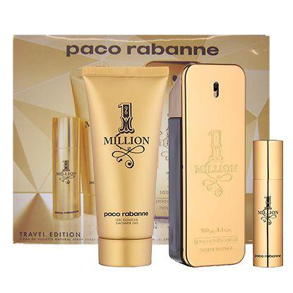 f34f1077b Kit Paco Rabanne 1 Million Masculino Eau De Toilette 100ml + Shower Gel  100ml + Travel