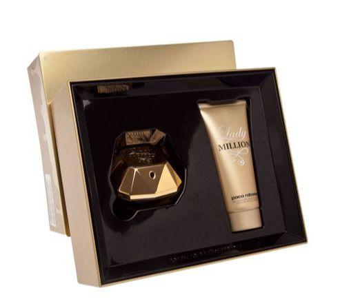 1346027816 Kit Paco Rabanne Lady Million Feminino Eau De Parfum 80ML + Hidratante  Corporal 100ML