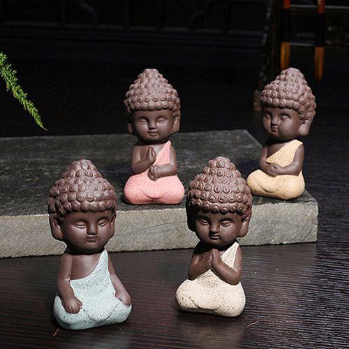 Estátuas de Cerâmica Mini Índia Yoga (jogo com 4 unidades)