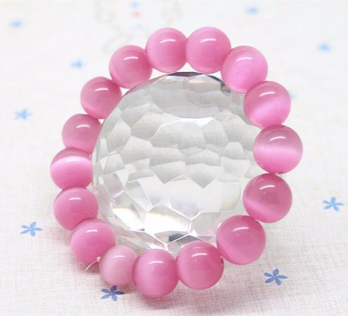 Pulseira de Opala Rosa - Energia Espiritual, Amor e Proteção