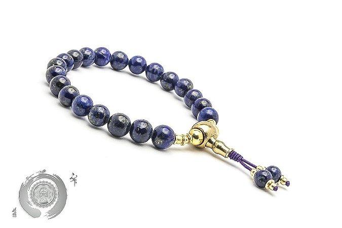 Japamala 21 Contas Lápis Lazuli Natural & Bronze