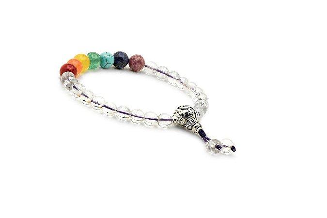 Pulseira Japamala Rainbow Healing All Chakras Quartzo