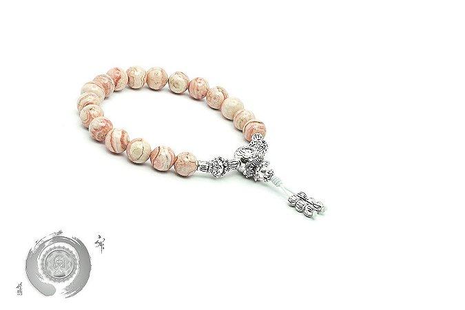 Japamala Pulseira Bracelete Budista Rodocrosita Argentina