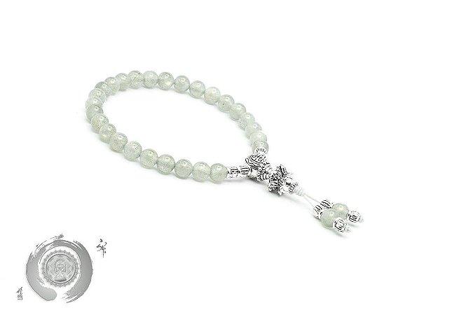 Japamala Pulseira Bracelete Budista Labradorita 27 contas