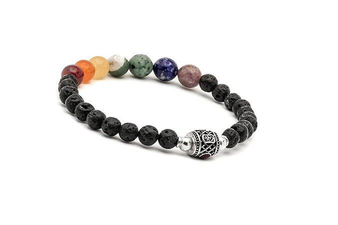 Pulseira Japamala Bodhisattva Rainbow Healing All Chakras