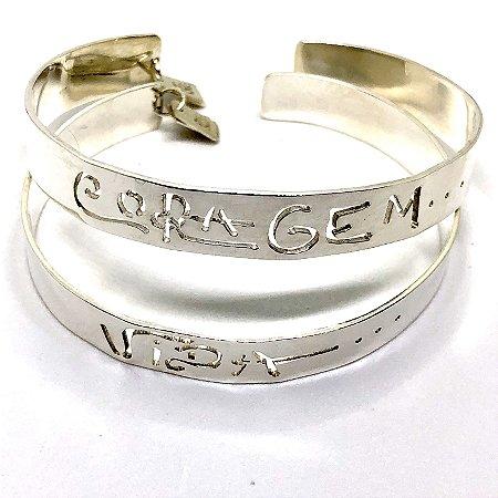 Bracelete em Prata 950 Coragem ou Vida