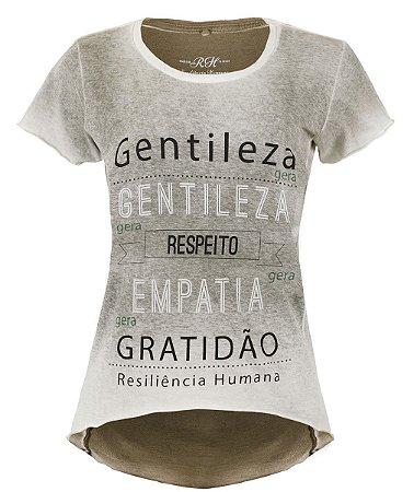 Camiseta Gentileza gera Gentileza - Feminina - Verde