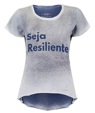 Camiseta Seja Resiliente- Feminina - Azul