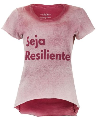 Camiseta Seja Resiliente- Feminina - Vermelha