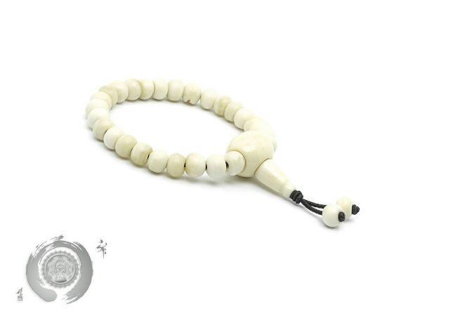 Japamala Pulseira Bracelete Budista Indian Bone Simple