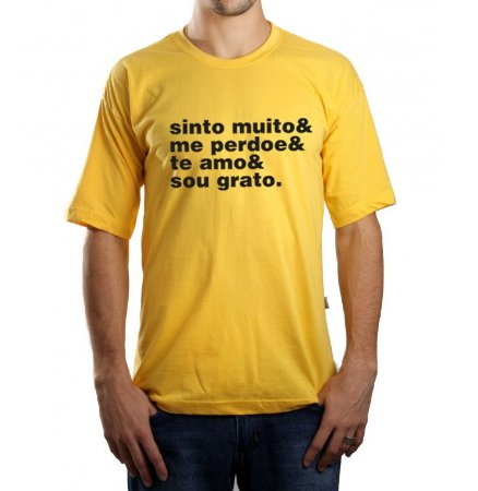 Camiseta Masculina Ho'Oponopono - Amarela