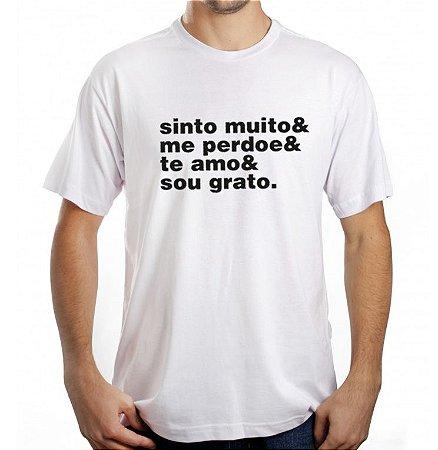 Camiseta Masculina Ho'Oponopono - Branca