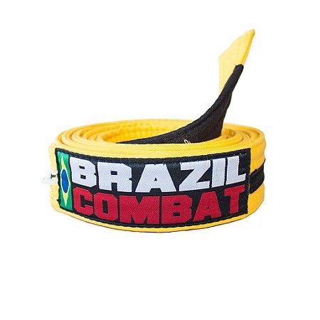 Faixa Jiu-Jitsu Amarela com Preto Brazil Combat