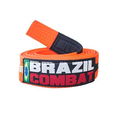 Faixa Jiu-Jitsu Laranja com preto Brazil Combat
