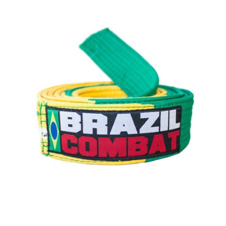 Faixa Verde e Amarela para Competição Brazil Combat