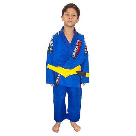 Kimono Jiu-JItsu Infantil Xtra-Lite Azul Brazil Combat