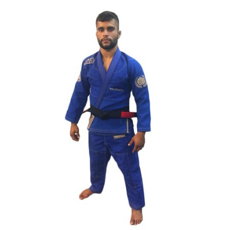 Kimono Jiu-Jitsu BJJ Roots Azul Brazil Combat