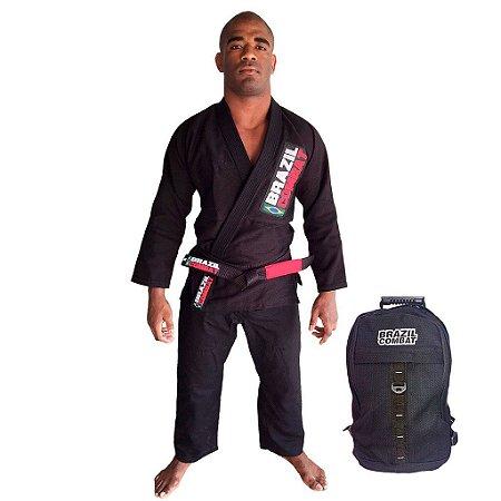 Kimono Starter Preto Mais Mochila Kimono Preta Brazil Combat
