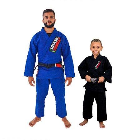 Kit 1 Adulto Starter Azul e 1 Infantil Reforçado Preto