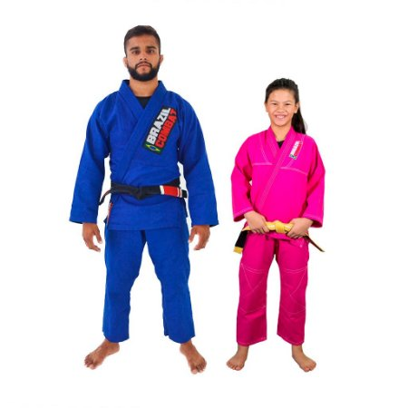Kit 1 Adulto Starter Azul e 1 Infantil Reforçado Rosa