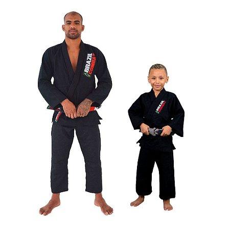 Kit 1 Adulto Starter Preto e 1 Infantil Reforçado Preto