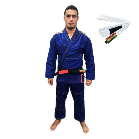 Kimono Jiu-JItsu ZComp Azul com Faixa Branca Zion