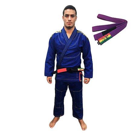Kimono Jiu-JItsu ZComp Azul com faixa Roxa Zion
