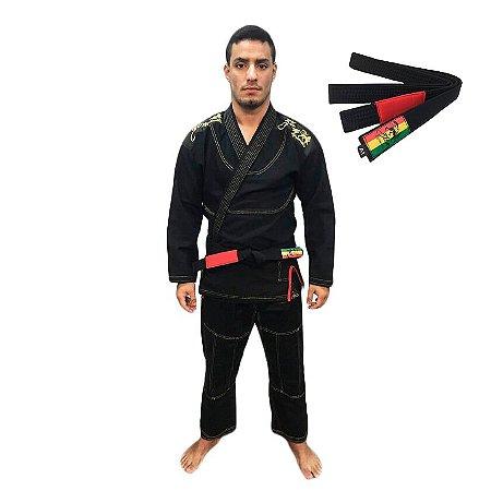 Kimono Jiu-JItsu ZComp Preto com Faixa Preta Zion