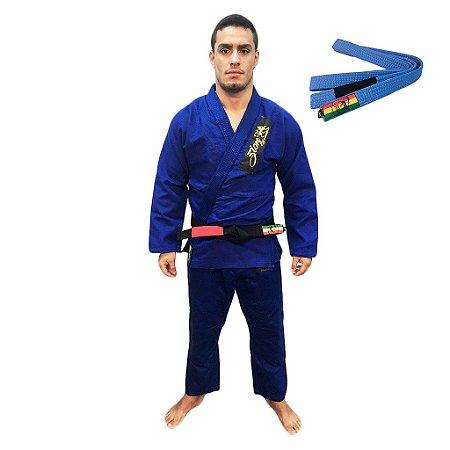 Kimono Jiu-JItsu Novice Azul com Faixa Azul Zion
