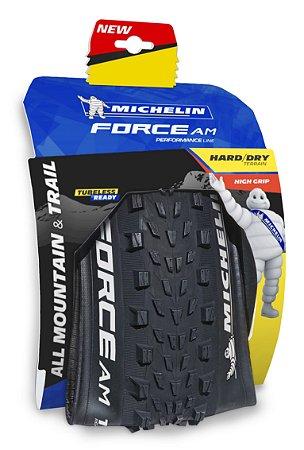 "Pneu Michelin 29"" X 2.35 Force AM Performace 4 X 60TPI TR Kevlar"