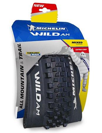 "Pneu Michelin 29"" X 2.35 Wild AM Competition 3 X 60TPI TR Kevelar"