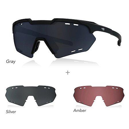 Óculos HB Kit Shield Compact M Preto