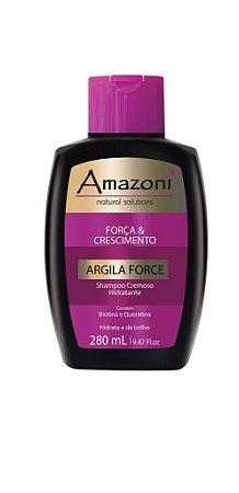 SHAMPOO CREMOSO HIDRATANTE AMAZONI ARGILA FORCE 280 ML