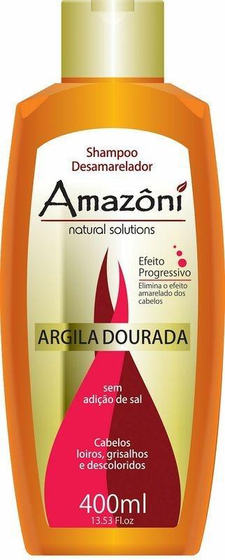 SHAMPOO AMAZONI DESAMARELADOR ARGILA DOURADA 400 ML