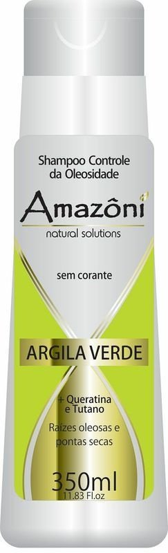 SHAMPOO AMAZONI CONTROL OLEOSIDADE ARGILA VERDE 350ML