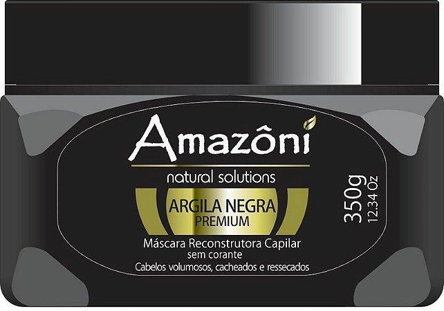 MÁSCARA RECONSTRUTORA AMAZONI ARGILA NEGRA 350 GR