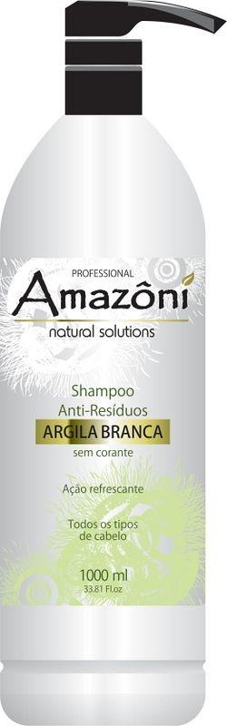 SHAMPOO AMAZONI ANTI RESIDUO ARGILA BRANCA 1 LITRO
