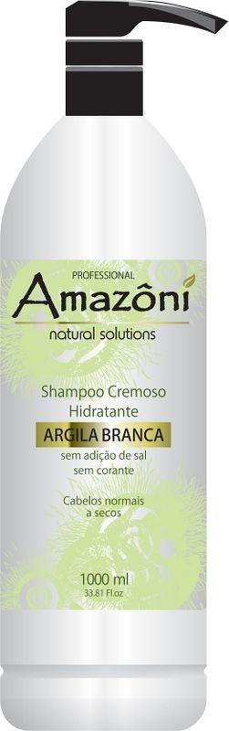 SHAMPOO AMAZONI HID CREMOSO ARGILA BRANCA 1 LITRO